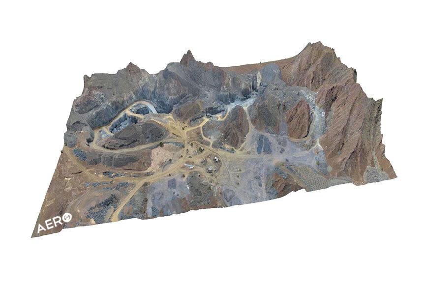 mineração e drone