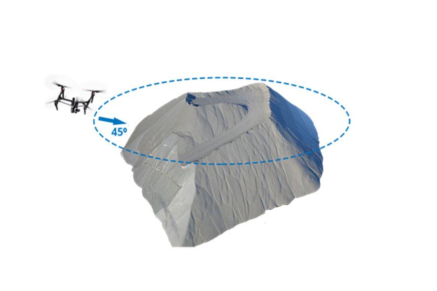 levantamento de pilha com drone
