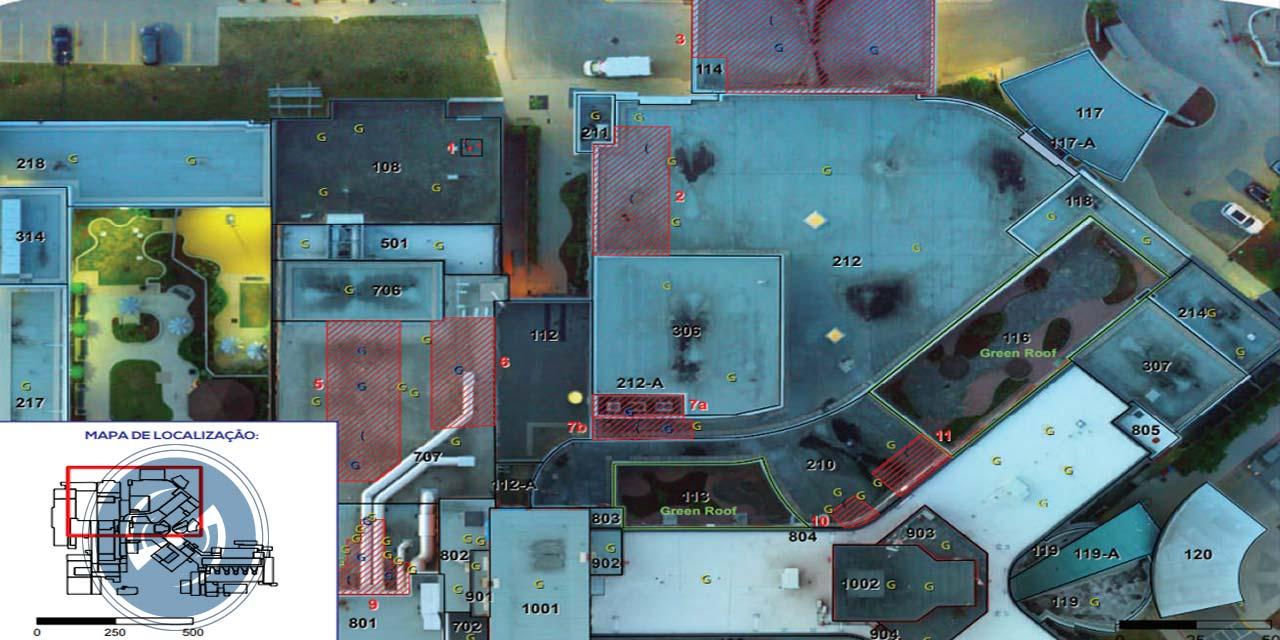 Inspeção de telhados com drone